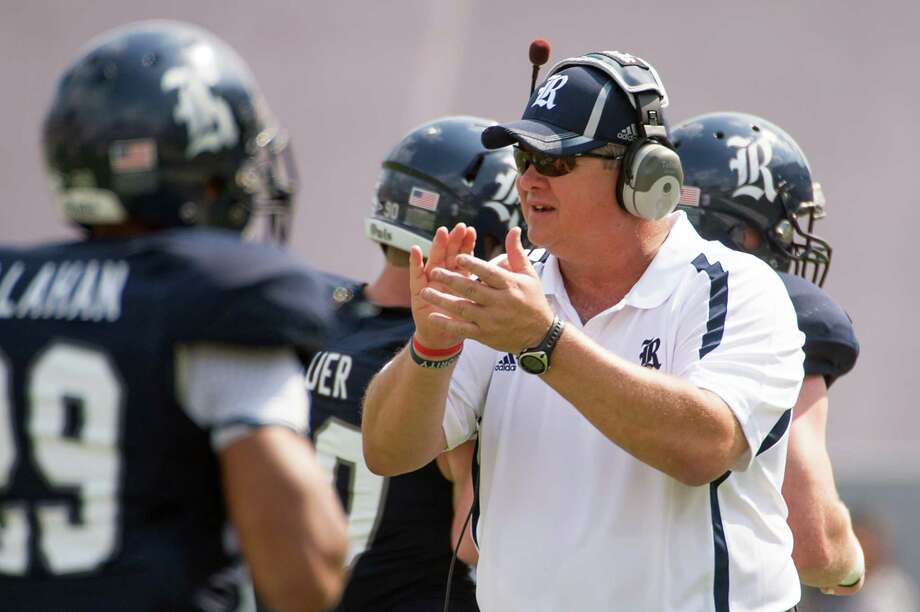 Rice head coach David Bailiff encourages his team during the first quarter of a college football game against Marshall at Rice Stadium, Saturday, Sept. 22, 2012, in Houston. Photo: Smiley N. Pool, Houston Chronicle / © 2012  Houston Chronicle