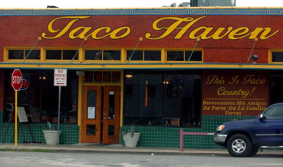 Taco Haven: 19691032 S. Presa St., (210) 533-2171, www.tacohaven.info Photo: KEVIN GEIL, E-N Archive / SAN ANTONIO EXPRESS-NEWS