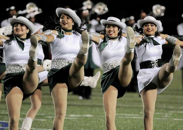 Members of the Southwest dance team perform during halftime of a high school football game against Brennan, Saturday, Sept. 22, 2012, at Farris Stadium in San Antonio. Photo: Darren Abate, Express-News