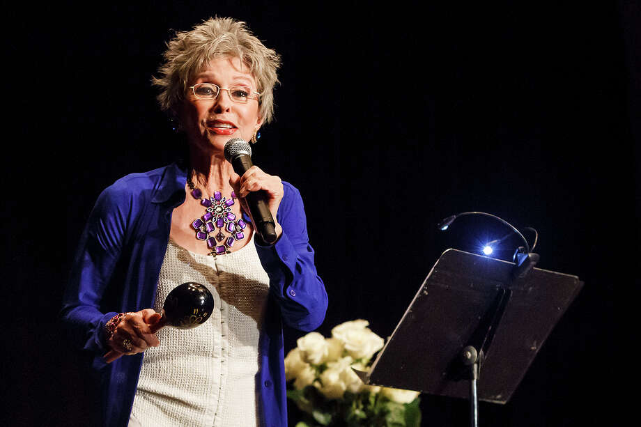 Rita Moreno, headlining a fundraiser for the Guadalupe Cultural Arts Center, talks about her life and performs at the Marriott Rivercenter  on Sept. 21, 2012.  MARVIN PFEIFFER/ mpfeiffer@express-news.net Photo: MARVIN PFEIFFER, Marvin Pfeiffer/ Express-News / Express-News 2012