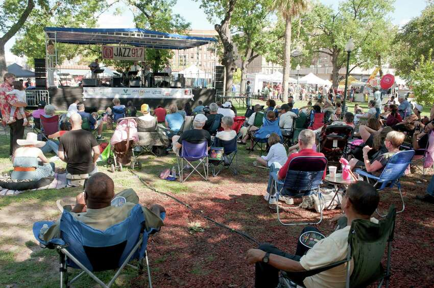 Travis Park comes alive during Jazz'SAlive every September. Go to the city's website for a schedule and more information.