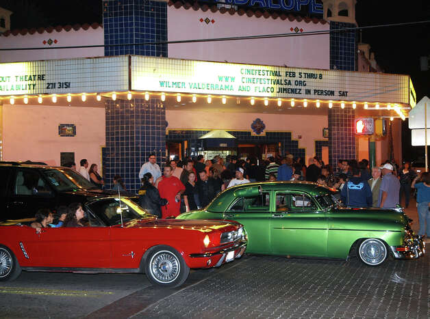 Vintage cars help introduce actor Wilmer Valderrama 's film at the Guadalupe Theater for his film during CineFestival Saturday, Feb. 7, 2009. Photo: San Antonio Express-News File Photo / SPECIAL TO THE EXPRESS-NEWS