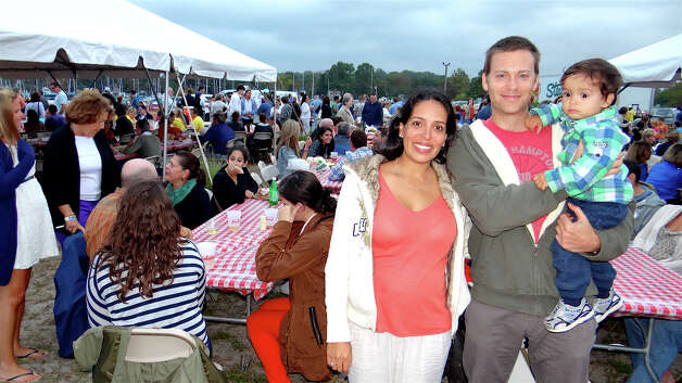 Alma, Richard and Noah Tomasovic at Saturday's Westport Rotary Club Lobster Fest. Photo: Mike Lauterborn / Westport News contributed