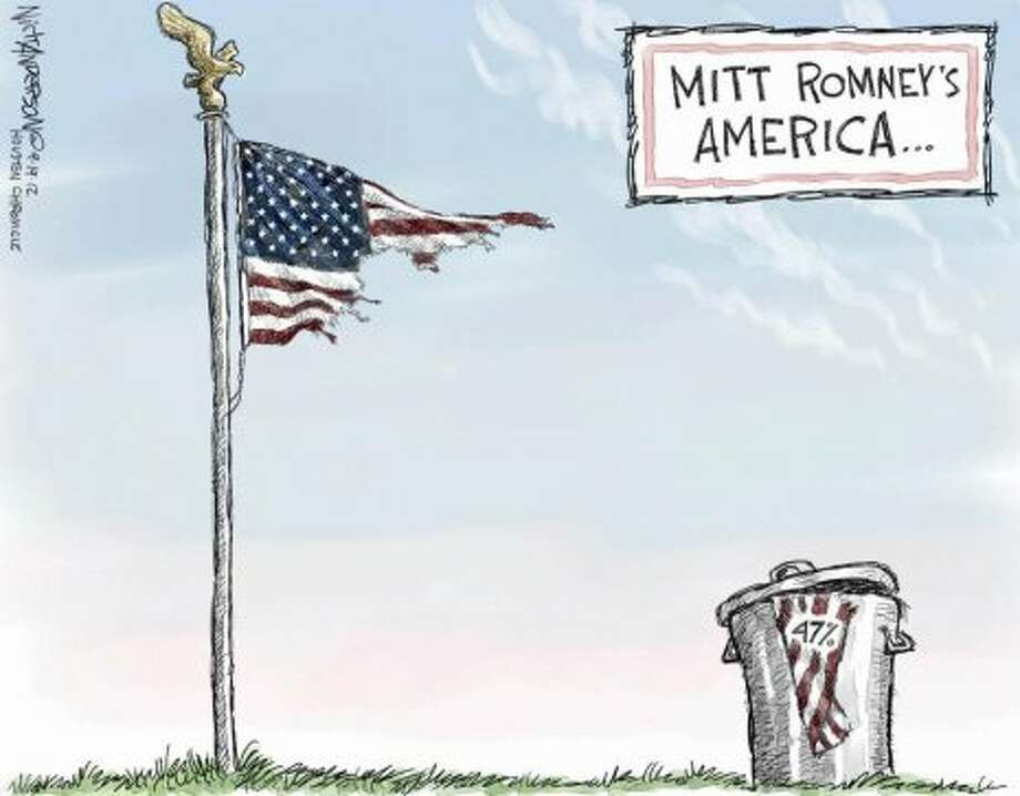 Mitt Romney's America (Nick Anderson / Houston Chronicle)