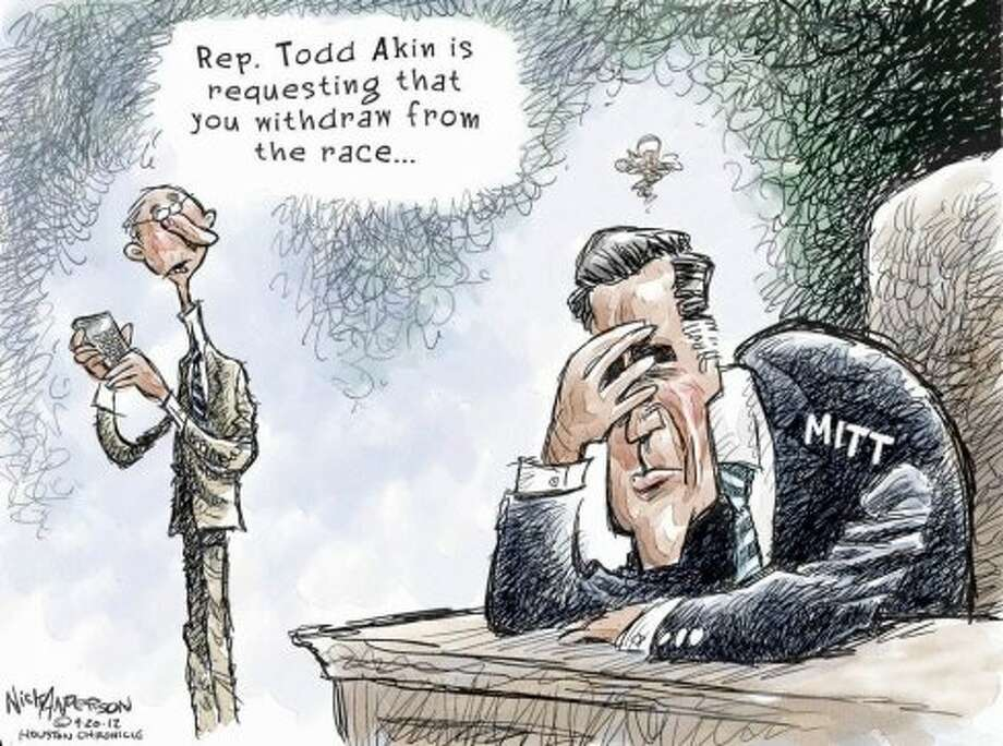Romney gaffes (Nick Anderson / Houston Chronicle)