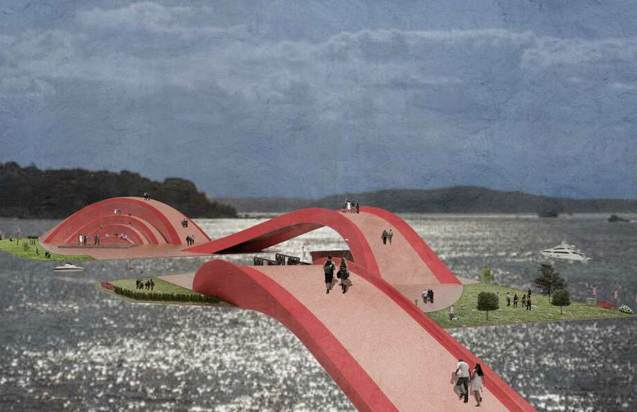 Another idea that would turn the pontoons into a floating park. Photo: Photos Provided By Sara Strouse.