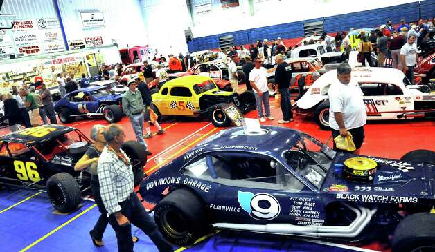 The Southern New York Racing Association reunion of the drivers and fans from the Racearena, which is now the Danbury Fair mall, is held in Danbury, Sunday, Sept. 23, 2012. Photo: Michael Duffy