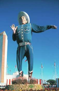 Big Tex greets over 3 million visitors to the State Fair of Texas each year. The State Fair is held annually at Fair Park, located near Downtown Dallas.