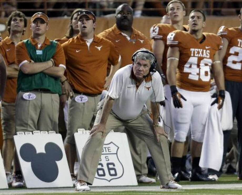 1. Texas (3-0, next week @ Oklahoma State) – During his bye, Mack Brown watched Oklahoma-Kansas State like the rest of us. He now realizes how much bigger that Dec. 1 finale at Manhattan suddenly is looming.(Eric Gay / Associated Press)