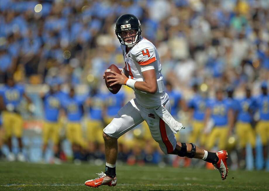 Sean Mannion from Foothill High in Pleasanton has guided surprising Oregon State to the No. 18 ranking. Photo: Mark J. Terrill, Associated Press