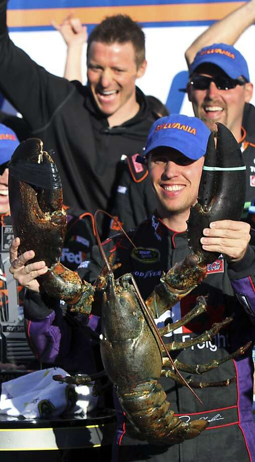 Denny Hamlin grabbed victory from the claws of defeat. He started 32nd because of a crew error but delivered a mistake-free run. Photo: Jim Cole, Associated Press