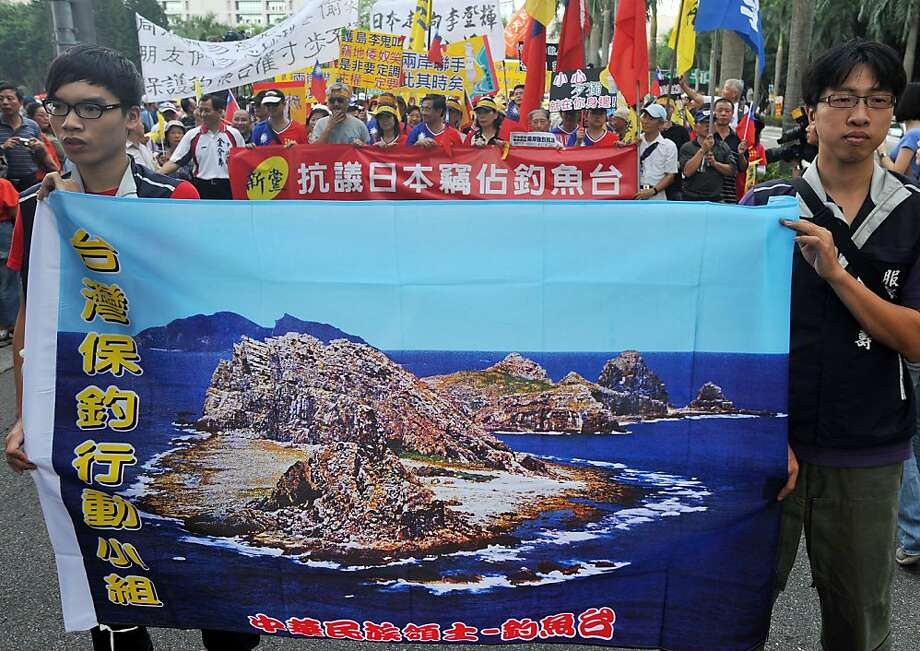 Taiwanese protesters march in a rally against Japan over disputed islands in the East China Sea. Photo: Mandy Cheng, AFP/Getty Images