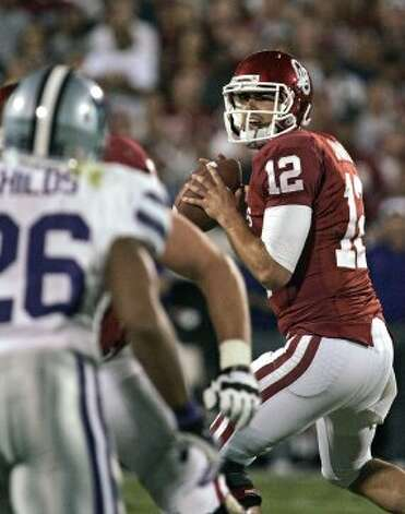 Landry Jones, Oklahoma, 28-43-1, 298 yards, 1 TD (Brett Deering / Getty Images)