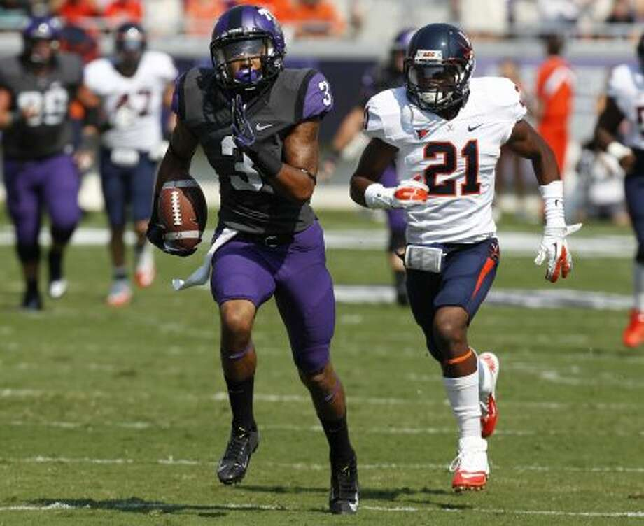 Brandon Carter, TCU, 5 catches, 128 yards, 1 TD (LM Otero / Associated Press)