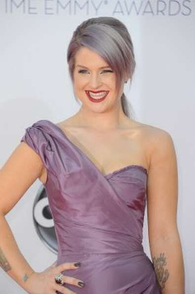 Kelly OsbourneGorgeous dress, but can the matchy-matchy hair. (Frazer Harr