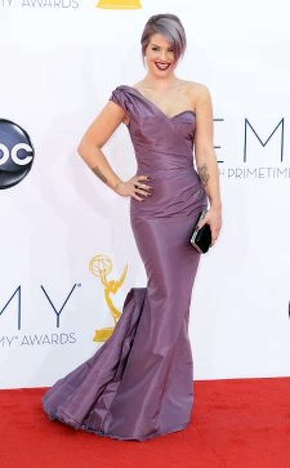 Kelly Osbourne arrives at the 64th Primetime Emmy Awards at the Nokia Theatre on Sunday, Sept. 23, 2012, in Los Angeles.  (Matt Sayles / Associated Press)