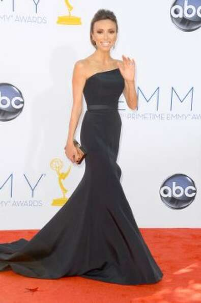 TV personality Giuliana Rancic arrives at the 64th Annual Primetime Emmy Awards at Nokia Theatre L.A