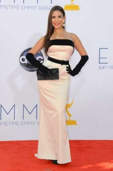 Model Mayra Veronica arrives at the 64th Annual Primetime Emmy Awards at Nokia Theatre L.A. Live on