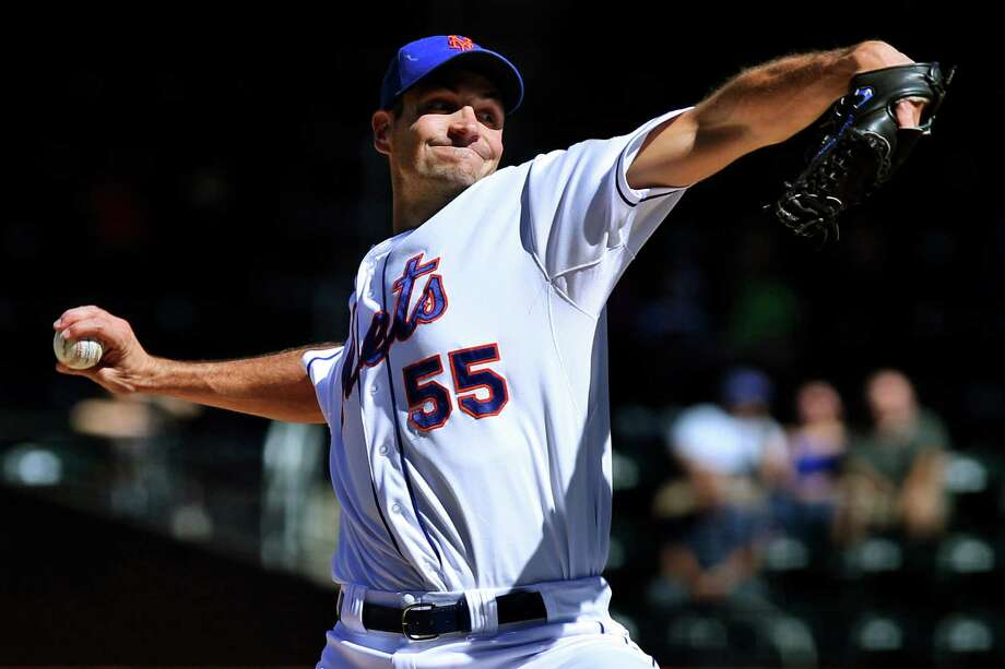 New York Mets starting pitcher Chris Young delivers during the first inning of a baseball game against the Miami Marlins, Sunday, Sept. 23, 2012, at Citi Field in New York. (AP Photo/Seth Wenig) Photo: Seth Wenig