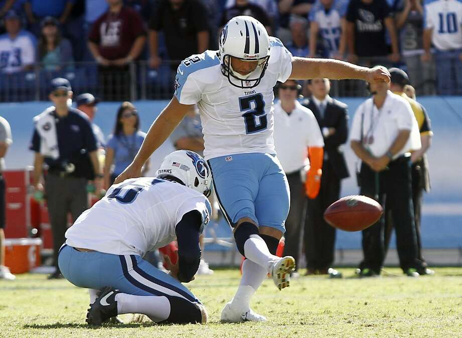 Titans kicker Rob Bironas supplied the winning points with a 26-yard field goal in overtime. Photo: Wade Payne, Associated Press