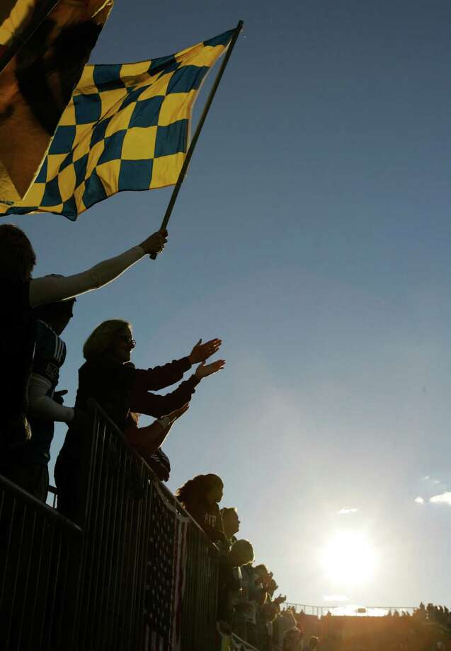 CHESTER, PA - SEPTEMBER 23: Fans of the Philadelphia Union cheer during their game against the Houston Dynamo at PPL Park on September 23, 2012 in Chester, Pennsylvania. Photo: Chris Gardner, Getty Images / 2012 Getty Images
