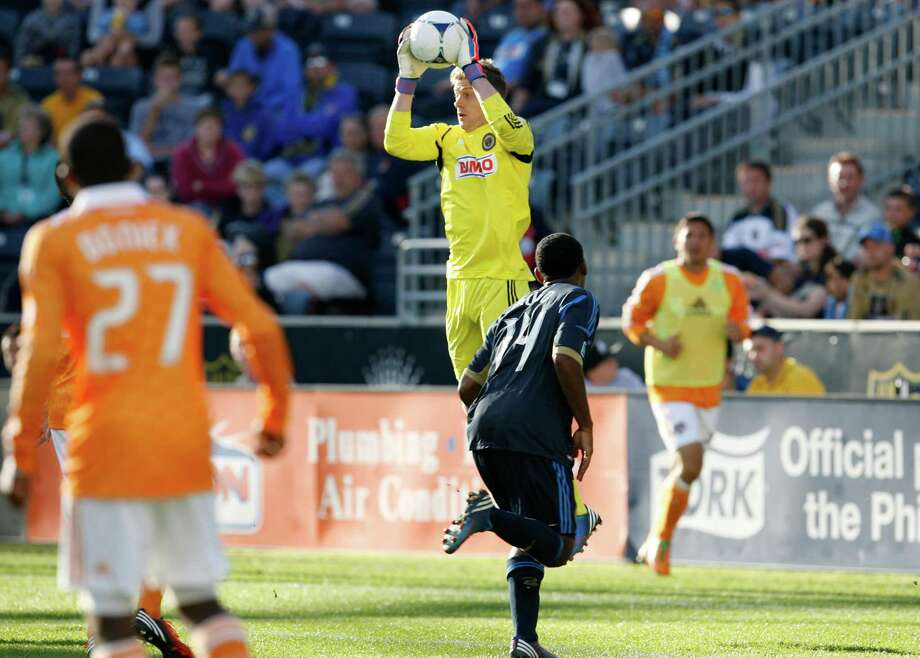CHESTER, PA - SEPTEMBER 23: Zac MacMath #18 of the Philadelphia Union makes a save against the Philadelphia Union at PPL Park on September 23, 2012 in Chester, Pennsylvania. Photo: Chris Gardner, Getty Images / 2012 Getty Images
