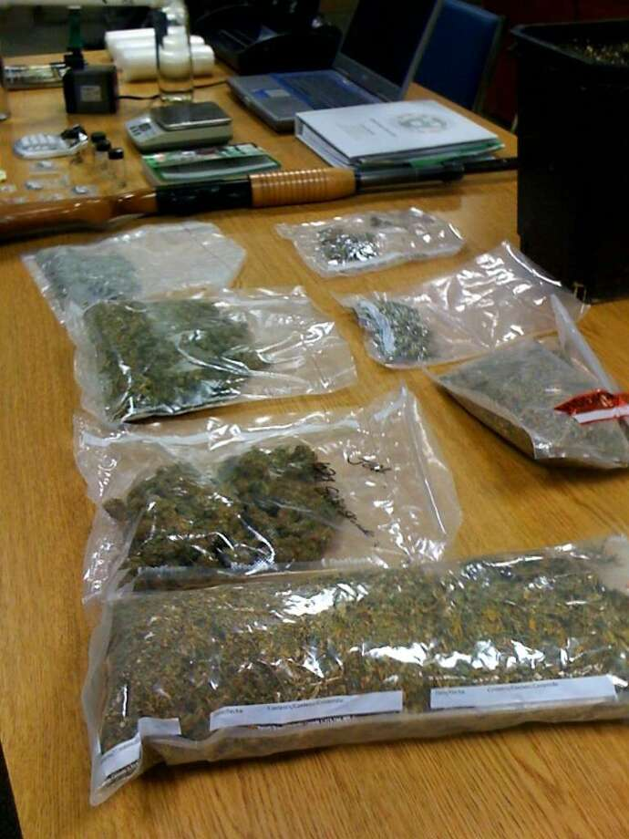 New Canaan Police Dept., Nearly one kilogram of marijuana, valued at about a $3K wholesale price, was confiscated by the New Canna police from a New Canaan residence, police said. Photo: Brittany Lyte/Staff Photo / Stamford Advocate
