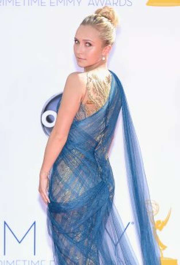 Actress Hayden Panettiere arrives at the 64th Annual Primetime Emmy Awards at Nokia Theatre L.A. Live on September 23, 2012 in Los Angeles, California.  (Kevork Djansezian / Getty Images)