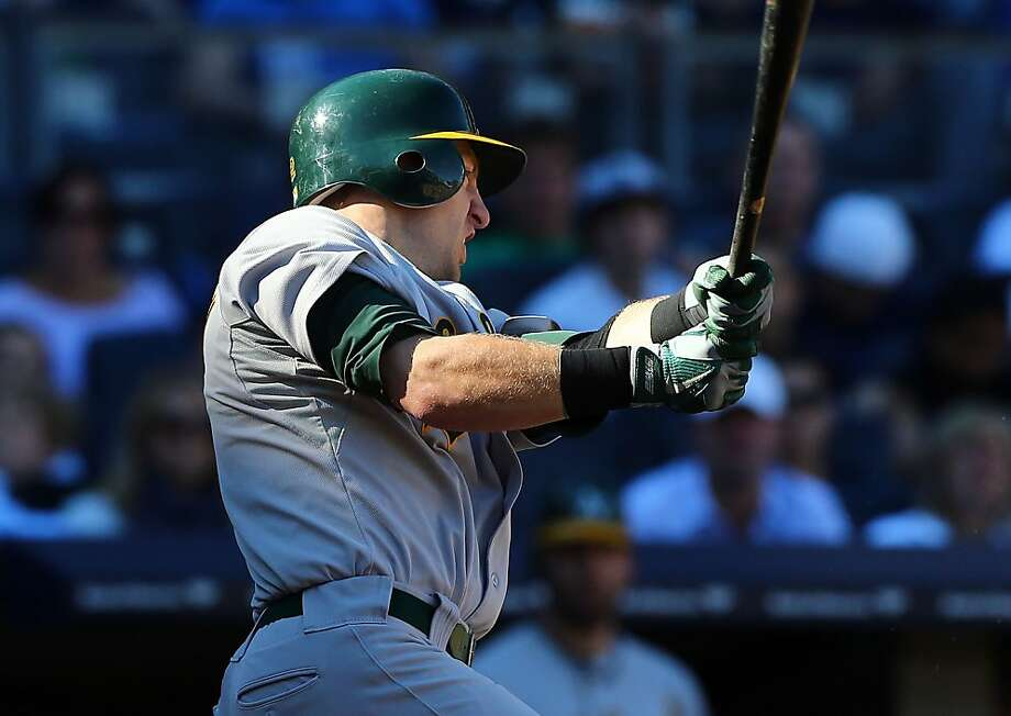 Cliff Pennington had three hits, three RBIs and two runs as the A's took the finale after two tough losses in New York. Photo: Jim McIsaac, Getty Images