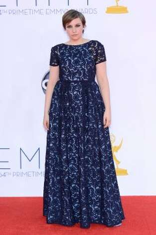 Lena Dunham: Face good. Dress upsetting.   (Kevork Djansezian / Getty Images)