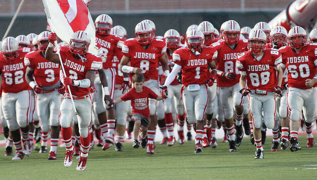Judson Rockets take the field for their game against East Central at D.W. Rutledge Stadium on Friday, Sept. 21, 2012. Photo: Kin Man Hui, Express-News / ©2012 San Antonio Express-News