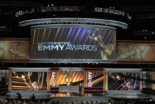 Host Jimmy Kimmel onstage at the 64th Primetime Emmy Awards at the Nokia Theatre on Sunday, Sept. 23, 2012, in Los Angeles. (Photo by John Shearer/Invision/AP) Photo: John Shearer, Associated Press