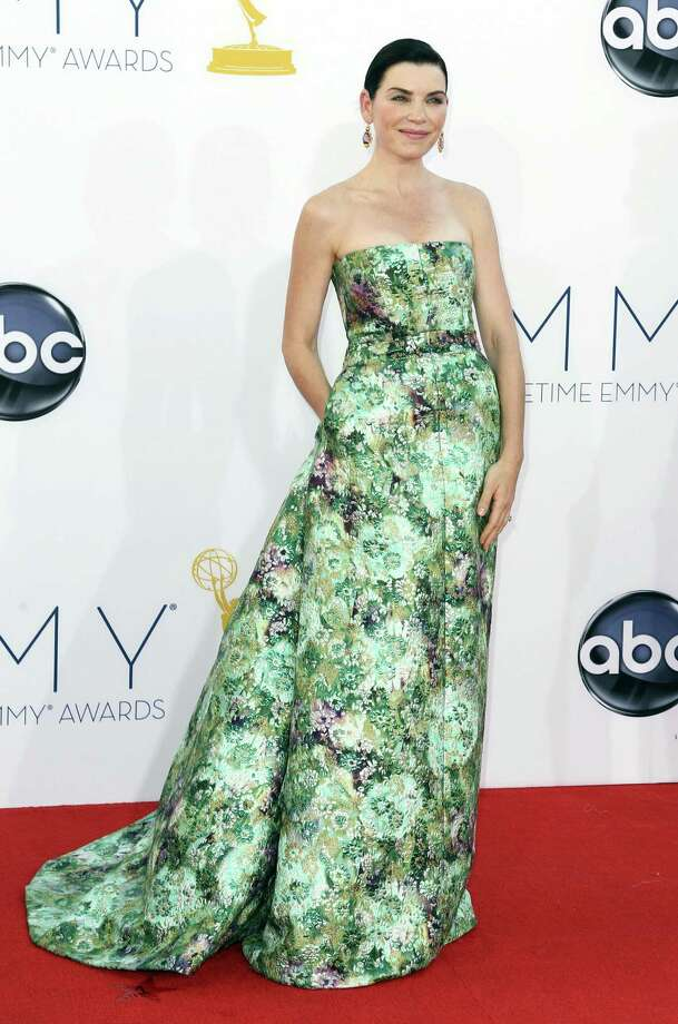 WORST:You'll see other examples of bad prints here, and this is not the worst. But with minimal styling elsewhere, Julianna Margulies let this Giambattista Valli design overwhelm her. The woman has glorious hair, but you'd never know it here. Photo: MATT SAYLES/INVISION/AP