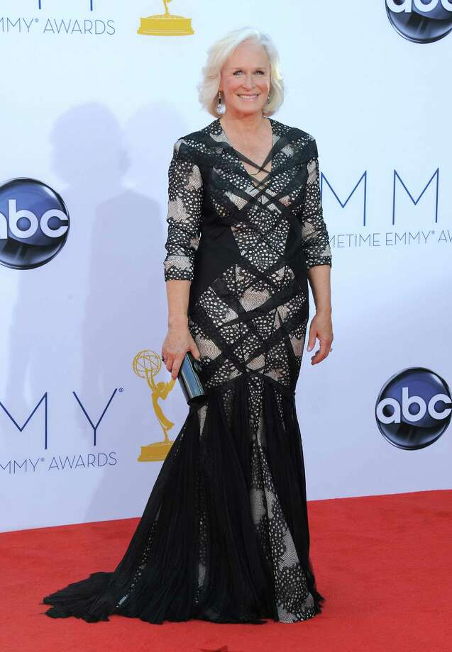 WORST:This is how NOT to do angular design. Actress Glenn Close looks like she's wearing a suit on top and a gown down at the bottom. Photo: JORDAN STRAUSS/INVISION/AP