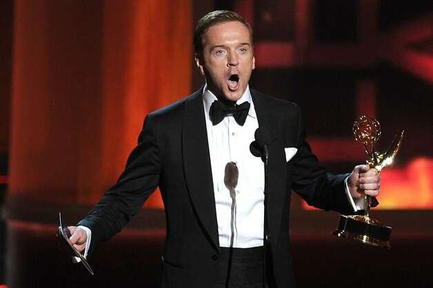 "LOS ANGELES, CA - SEPTEMBER 23:  Actor Damian Lewis accepts Outstanding Lead Actor in a Drama Series award for ""Homeland"" onstage during the 64th Annual Primetime Emmy Awards at Nokia Theatre L.A. Live on September 23, 2012 in Los Angeles, California.  (Photo by Kevin Winter/Getty Images) Photo: Kevin Winter, Getty Images"