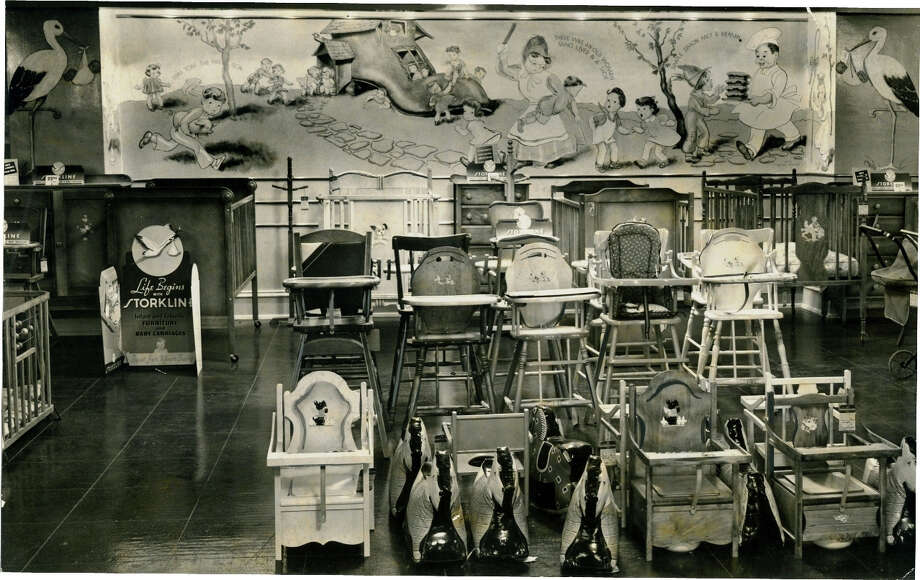 The Montgomery Ward department store's children's department in Menands, 1938. Find something really disturbing in the photo. (Times Union Archives)