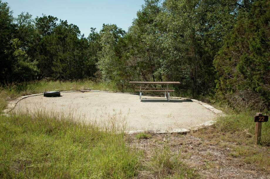 Campsite 22, photographed Sunday, Sept. 23, 2012, at the Government Canyon State Natural Area in San Antonio. Photo: Darren Abate, Darren Abate/For The Express-New