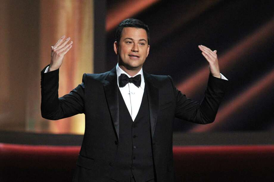 Host Jimmy Kimmel speaks onstage during the 64th Annual Primetime Emmy Awards in Los Angeles. Photo: Kevin Winter, Getty Images / 2012 Getty Images