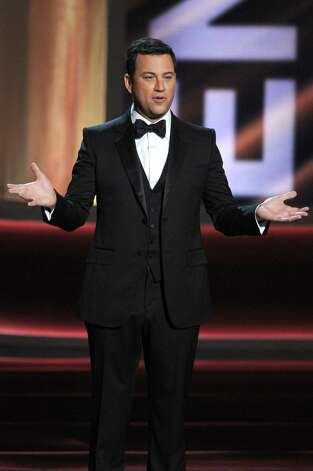 LOS ANGELES, CA - SEPTEMBER 23:  Host Jimmy Kimmel speaks onstage during the 64th Annual Primetime Emmy Awards at Nokia Theatre L.A. Live on September 23, 2012 in Los Angeles, California.  (Photo by Kevin Winter/Getty Images) Photo: Kevin Winter, Staff / 2012 Getty Images