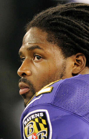 Baltimore Ravens wide receiver Torrey Smith looks on from the sideline in the first half of an NFL football game against the New England Patriots in Baltimore, Sunday, Sept. 23, 2012. Smith's younger brother, Tevin Chris Jones, 19, was killed late Saturday in a motorcycle accident in northeast Virginia. (AP Photo/Nick Wass) Photo: Nick Wass