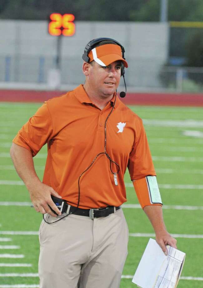 Alvin football head coach Trey Herrmann Photo: L. Scott Hainline / freelance