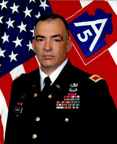 Col.  Richard M. Francey Jr. is assigned as the chief of staff of U.S. Army North (5th  Army). From 2005-07, he was assigned as the 4th Infantry Division rear detachment commander in support of Operation Iraqi Freedom. During that time, the division lost 187 soldiers in combat. Photo: Courtesy