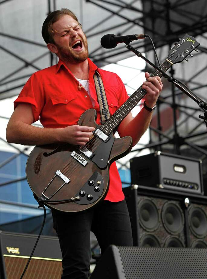 Kings of Leon's Caleb Followill's 'drunk' behavior at the infamous Dallas show led to the band canceling its entire U.S. tour.  Photo: Melissa Phillip, Houston Chronicle / Houston Chronicle