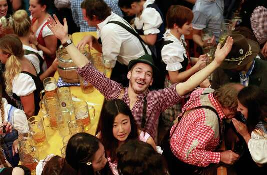 The party goes on and on at Oktoberfest in Munich, Germany. (Photo by Johannes Simon/Getty Images) Photo: Johannes Simon, Ap/getty / 2012 Getty Images