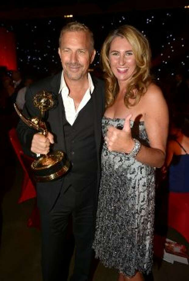 Actor Kevin Costner and Nancy Dubuc, A&E President of Entertainment and Media, attend the 64th Annual Primetime Emmy Awards Governors Ball at Nokia Theatre L.A. Live on September 23, 2012 in Los Angeles, California.  (Kevin Winter / Getty Images)