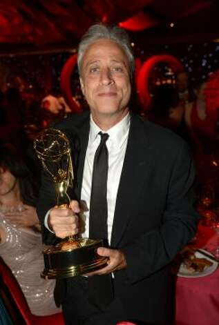 TV personality Jon Stewart attends the 64th Annual Primetime Emmy Awards Governors Ball at Nokia Theatre L.A. Live on September 23, 2012 in Los Angeles, California.   (Kevin Winter / Getty Images)
