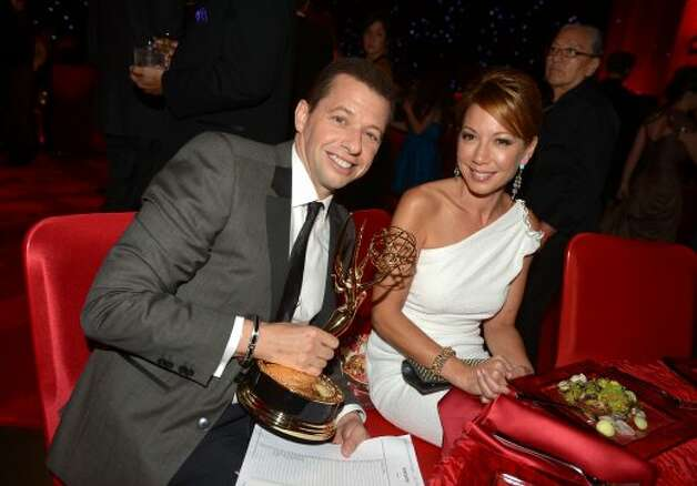 Actors Jon Cryer and Lisa Joyner attend the 64th Annual Primetime Emmy Awards Governors Ball at Nokia Theatre L.A. Live on September 23, 2012 in Los Angeles, California.   (Kevin Winter / Getty Images)