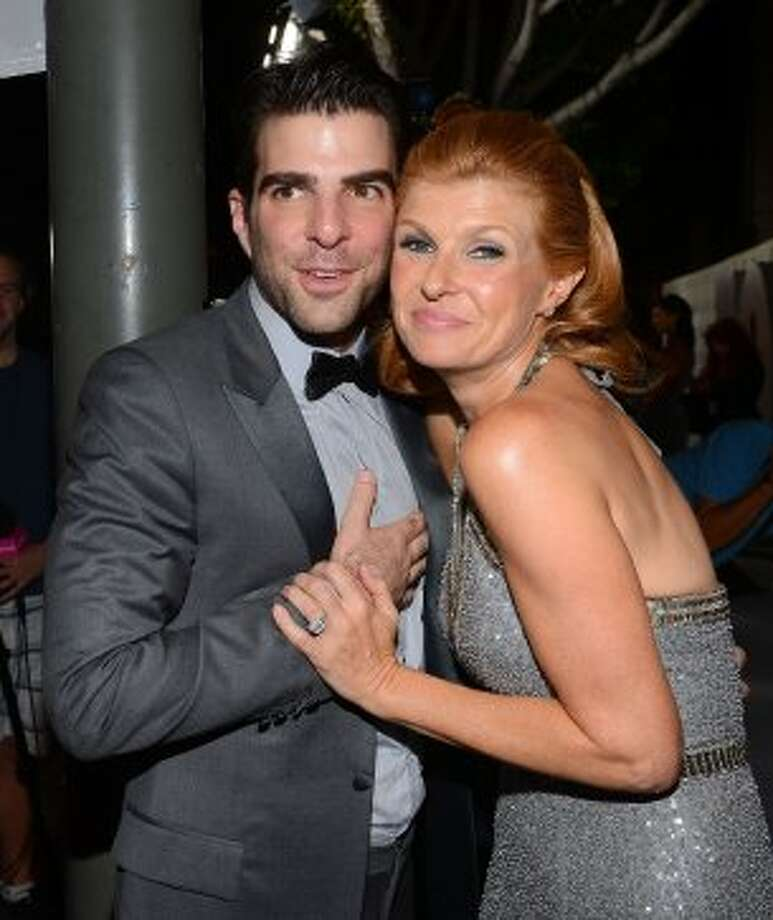 Zachary Quinto and Connie Britton attend FOX Broadcasting Company, Twentieth Century FOX Television and FX post Emmy party at Soleto on September 23, 2012 in Los Angeles, California.  (Mark Davis / Getty Images for FOX)