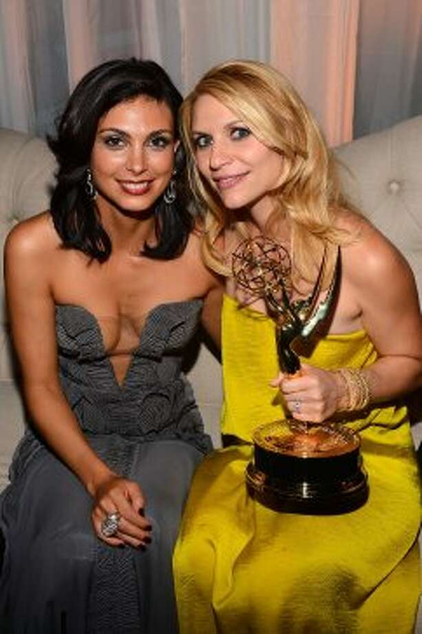 Morena Baccarin and Claire Danes attend FOX Broadcasting Company, Twentieth Century FOX Television and FX post Emmy party at Soleto on September 23, 2012 in Los Angeles, California.  (Mark Davis / Getty Images for FOX)