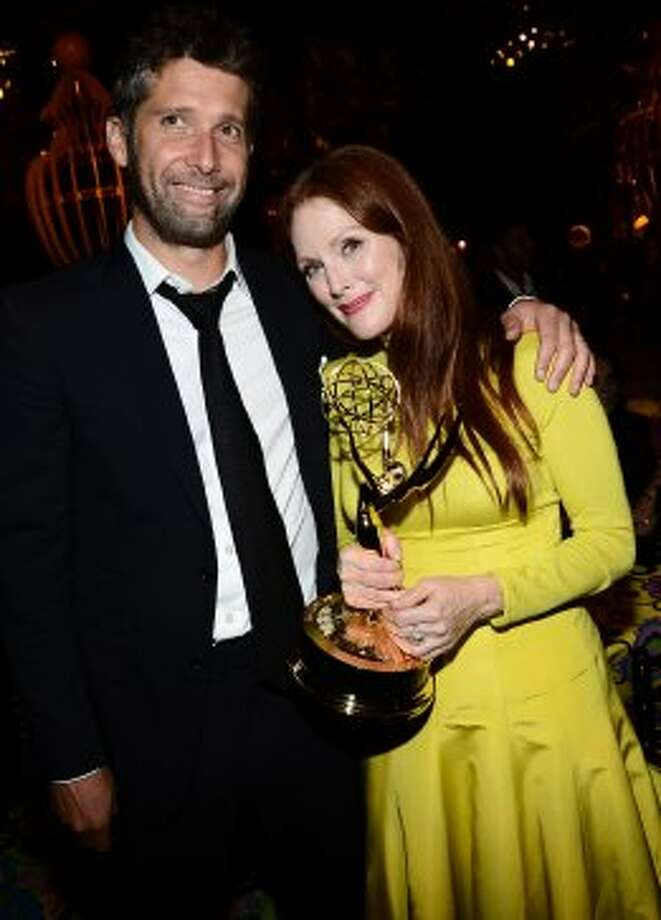 Bart Freundlich (L) and actress Julianne Moore attend HBO's Annual Emmy Awards Post Awards Reception at the Pacific Design Center on September 23, 2012 in West Hollywood, California.   (Michael Buckner / Getty Images)